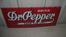 DR PEPPER GOOD FOR LIFE PORCELAIN SIGN