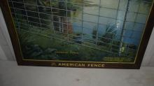 AMERICAN FENCE CO TIN LITHO SIGN