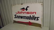 JOHNSON SNOWMOBILES TIN SIGN