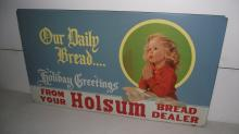 HOLSUM BREAD DEALER MASONITE SIGN