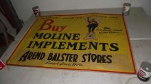 LARGE MOLINE IMPLEMENTS SIGN SCOTCH GROVE IOWA