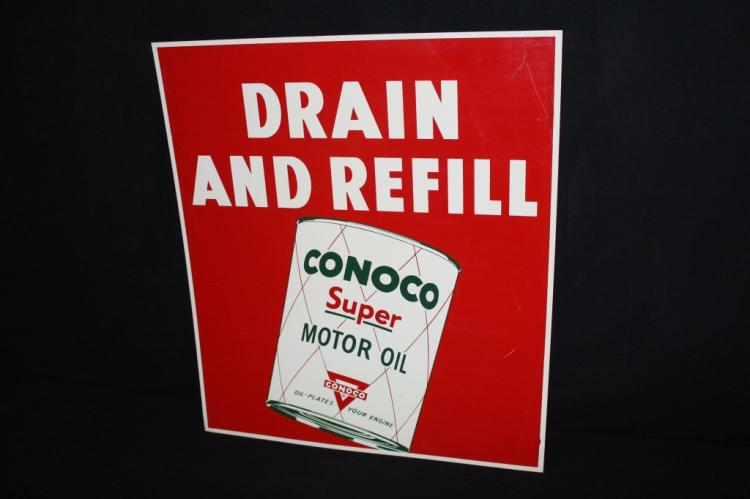 Conoco Super Motor Oil Sign