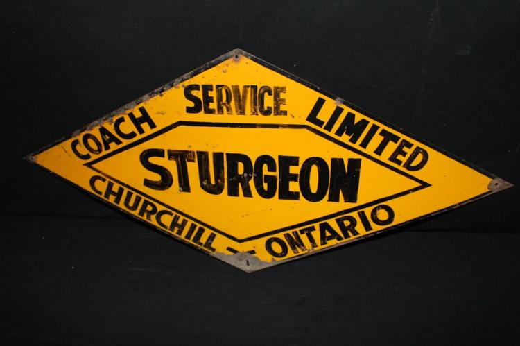 Sturgeon Coach Service Churchill ON Canada Sign