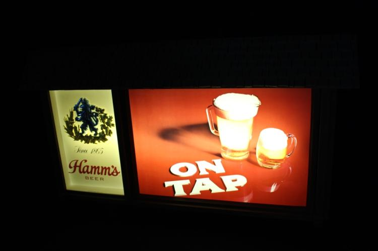 Hamms On Tap Lighted Beer Sign