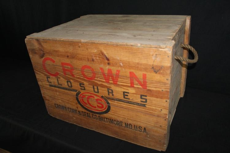 Crown Closures Bottle Cap Wood Crate Kingsbury