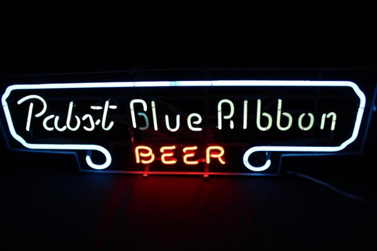 Pabst Blue Ribbon Beer Neon Lighted Sign