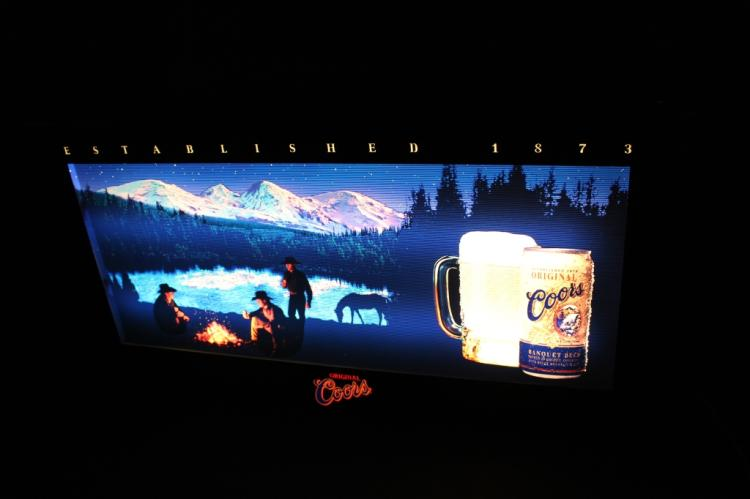 Coors Banquet Beer Motion Lighted Sign