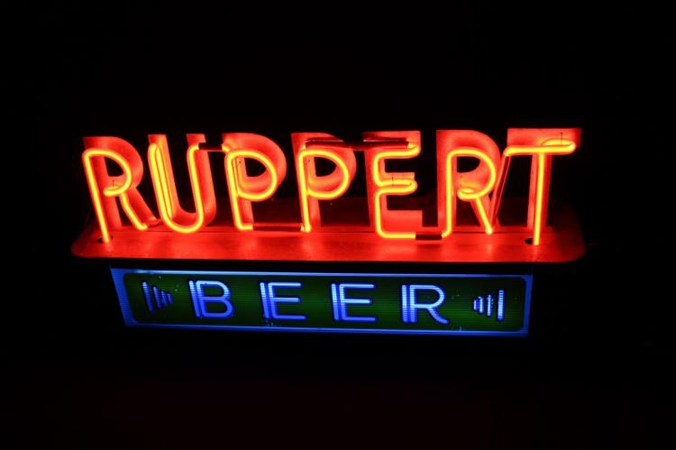 Ruppert Beer Neon Lighted Back Bar Sign