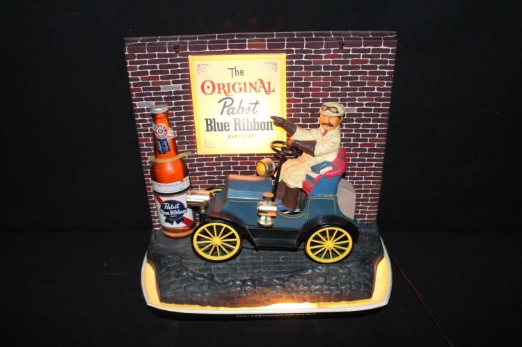Pabst Blue Ribbon Beer Model T Jalopy Beer Sign