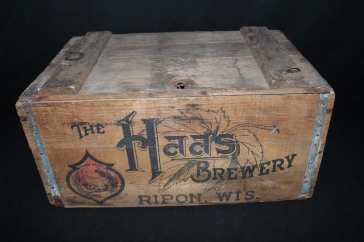 The Haas Brewery Ripon WI Beer Crate