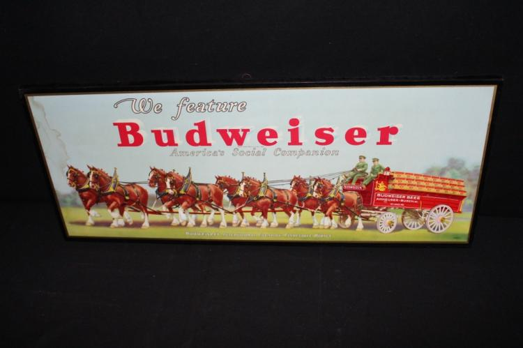 Budweiser Beer Champion Clydesdales Beer Sign