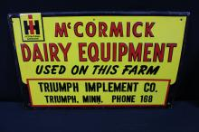 McCormick Deering International Harvester Tin Sign Truman MN