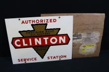 NOS Clinton Engines Authorized Service Station Sign & Original Box