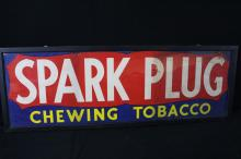 Spark Plug Chewing Tobacco Heavy Paper Litho Sign