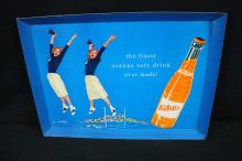 1957 Nesbitts Orange Soda Cheerleader Cardboard Sign