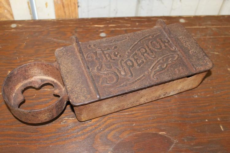 Cast Iron THE SUPERIOR Horse Implement Tool Box