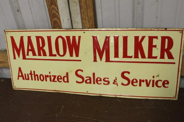 Marlow Milkers Sales & Service Tin Farm Sign