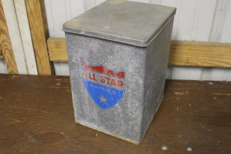All Star Dairies Milk Bottle Delivery Box