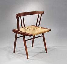 6 Grass-Seated Chairs by George Nakashima