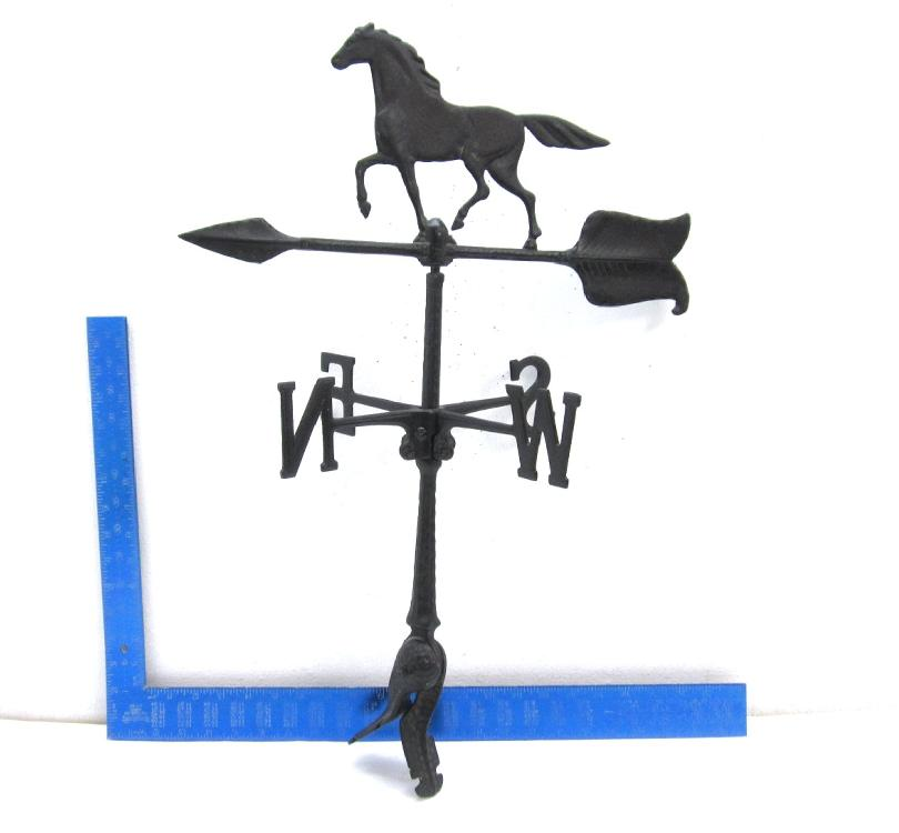 Black Cast Iron Horse Weather Vane