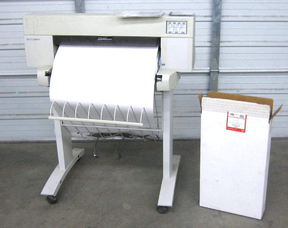 "HP Designjet 430 24"" Large-format Printer Turns on"