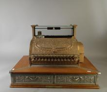 Collection : Caisse enregistreuse marque National USA double tiroir