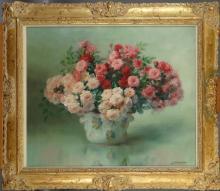 Tableau HST - Bouquet de fleurs - signé STAPPERS Julien