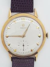 A vintage Omega 18k solid gold men's wrist watchmanual winding
