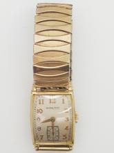 A vintage art deco Hamilton 10k gold filled  men's watch- 1946