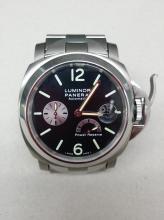 A Panerai Luminor Titanium watch