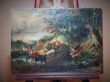 Vintage Dutch Oil Painting Landscape- not signed