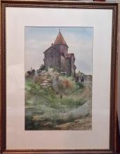 L. Berberyan Watercolor on Paper- Signed