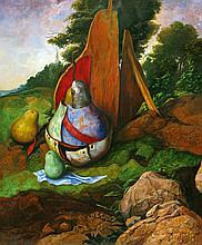 Pears in a Landscape
