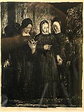The Novitiate, Lithograph #25, pencil signed and numbered, by George Wesley Bellows (1882-1925), American Artist.