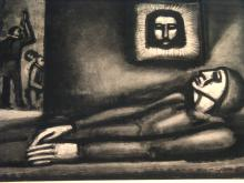 De Profundis Miserere Series, Lithograph Plate, signed and dated upper left, by George Rouault (1871-1958), French Artist.