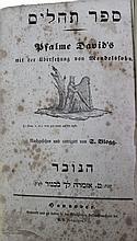 Psalms Book Hanover 1840