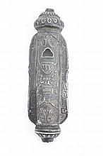 Silver European Mezuzah Case. Europe, End of the 19th-Beginning of the 20th century
