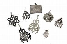 8 Silver amulets