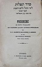 Order of Prayers, Italian Translation, Venice 1829.