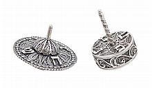 2 Silver Dreidels