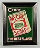1920s Pay Car Tobacco Embossed Tin Sign.