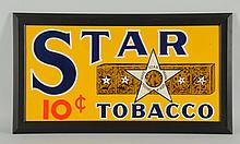 1920s-1930s Star Tobacco Embossed Tin Sign.