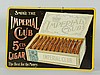 Imperial Club Cigar Embossed Sign.