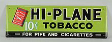 1930s-1940s Hi-plane Tobacco Embossed Tin Sign.