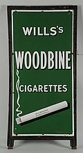 Wills Woodbine Cigarette Porcelain Sign.