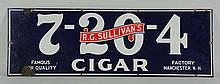 R.G. Sullivan's 7-20-4 Cigar Porcelain Sign.