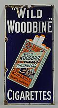 Porcelain Wild Woodbine Cigarettes Sign.