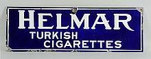 1919-1920 Helmar Cigarettes Porcelain Sign.