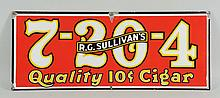 Sullivan's 7-20-4 Porcelain Cigar Sign.