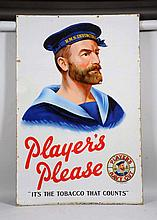 Large & Early Player's Tobacco Porcelain Sign.